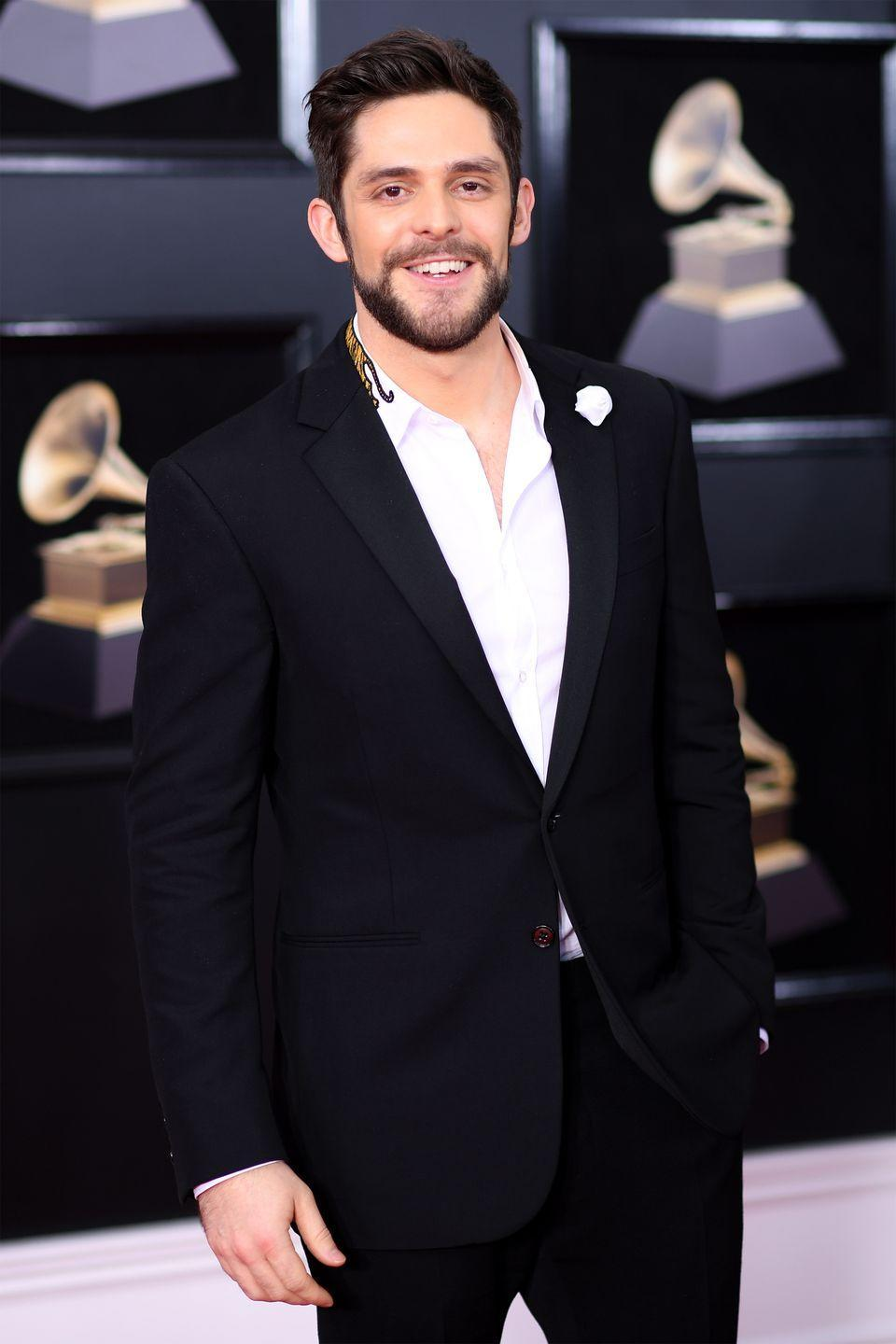 """<p>Thomas Rhett has risen to the top of the charts singing country love songs, but not long ago he was just a mere fraternity brother at Lipscomb University. While studying towards his degree, Rhett <a href=""""https://countryfancast.com/fraternities-and-sororities/"""" rel=""""nofollow noopener"""" target=""""_blank"""" data-ylk=""""slk:pledged Tau Phi"""" class=""""link rapid-noclick-resp"""">pledged Tau Phi</a>. </p>"""