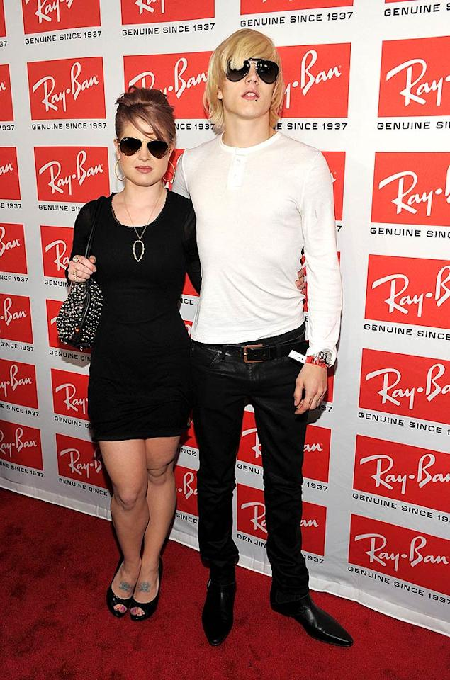 "While Iggy Pop both hosted and performed at the party, guests including Kelly Osbourne and her fiance, Luke Worrall, were free to slip on some shades and mingle with the other beautiful people. Theo Wargo/<a href=""http://www.wireimage.com"" target=""new"">WireImage.com</a> - May 12, 2010"