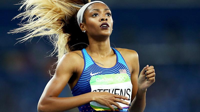 Deajah Stevens, pictured here in action at the Rio 2016 Olympic Games.