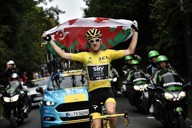 British rider Geraint Thomas won the 2018 Tour de France (AFP Photo/Marco BERTORELLO)