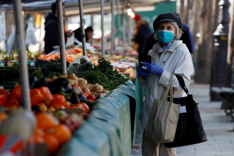 FILE PHOTO: The Bastille Market in Paris as a lockdown is imposed to slow the rate of the coronavirus disease in France