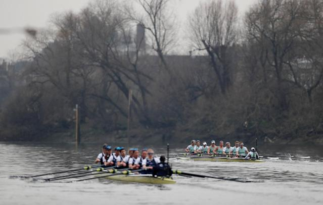 Rowing - 2018 Oxford University vs Cambridge University Boat Race - London, Britain - March 24, 2018 General view as Cambridge lead Oxford during the women's boat race REUTERS/Matthew Childs