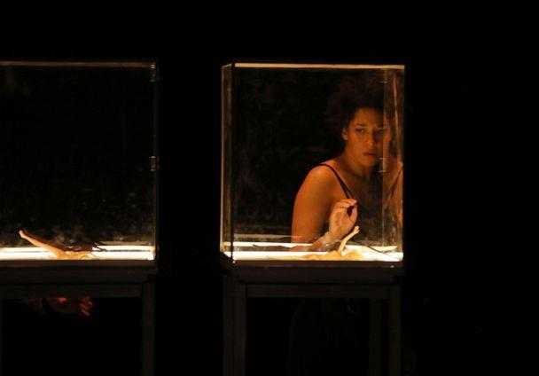 PHOTO: Scenes from 'Zauberland,' a new work directed by Katie Mitchell, starring Julia Bullock. (Patrick Berger)