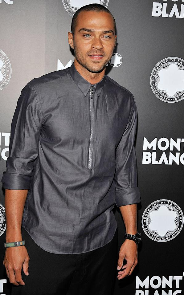 """Grey's Anatomy"" star Jesse Williams hit the event to support his pal, Rashida. The pair were honored earlier this year by Moet and Chandon for their efforts in support of black independent film. (10/2/12)"