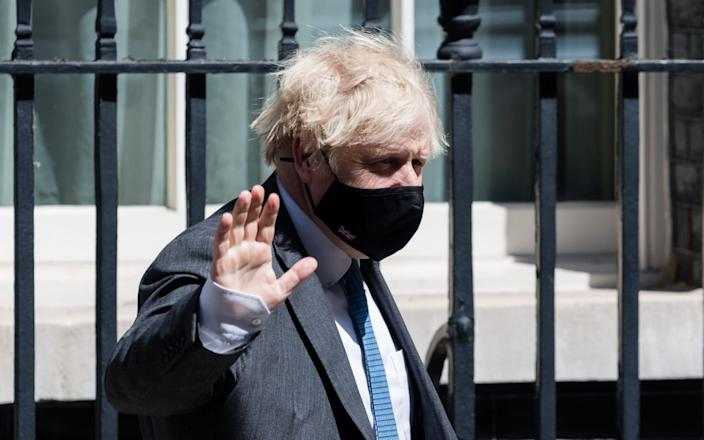 Boris Johnson ended a Q&A about rape convictions by accusing Labour of 'jabber' - Barcroft Media