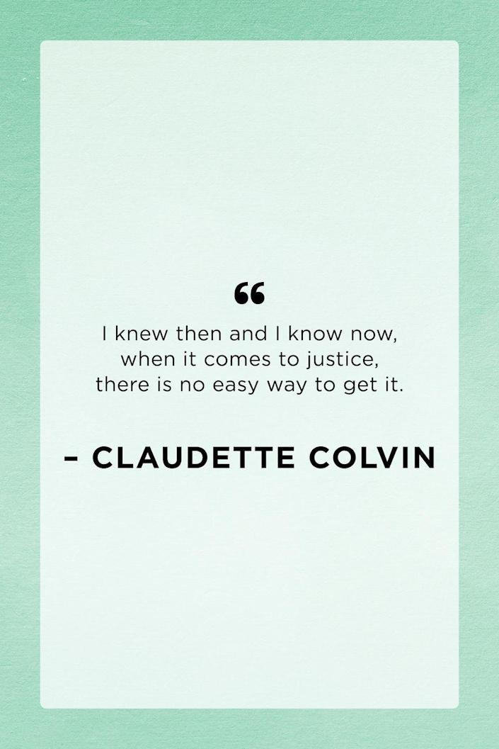 <p>Claudette Colvin was an American retired Nurse's Aide and pioneer of the Civil Rights movement of the 1950s. </p>