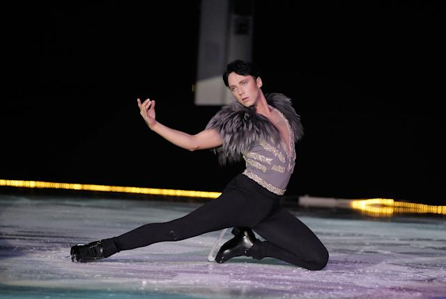 Performing at theIce Theatre of New York: Dare to Be Different gala at Sky Rink, Chelsea Piers, on Oct. 24, 2011, in New York City.
