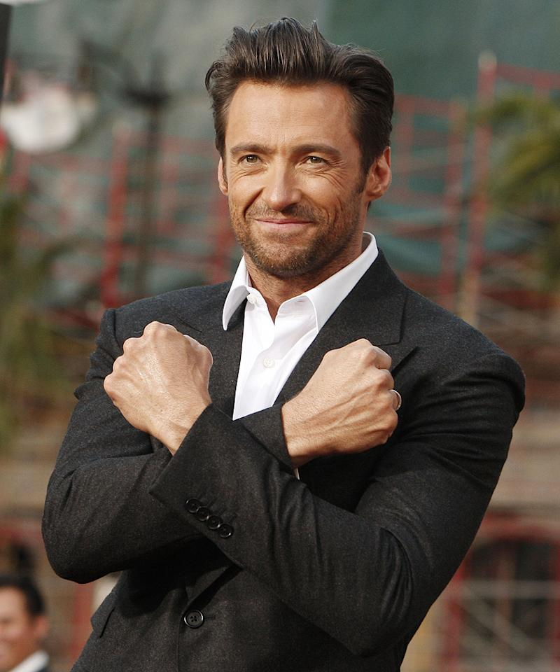 """<a href=""""http://movies.yahoo.com/movie/contributor/1800354816"""">Hugh Jackman</a> at the Los Angeles premiere of <a href=""""http://movies.yahoo.com/movie/1808665084/info"""">X-Men Origins: Wolverine</a> - 04/28/2009"""