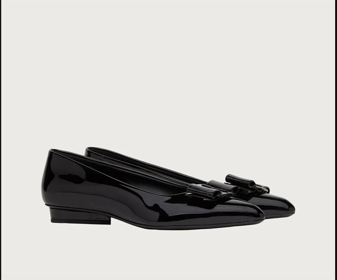 """<p><strong></strong></p><p>ferragamo.com</p><p><strong>$675.00</strong></p><p><a href=""""https://www.ferragamo.com/shop/us/en/women/shoes/viva-730583"""" target=""""_blank"""">Shop Now</a></p><p>""""For my wardrobe I like to stick to classics that can carry me through not only seasons but years. Ferragamo's Viva ballet flat is one of these iconic silhouettes. With temperatures dropping I can't wait to cycle them back into my rotation to wear with everything both in and out of the house - the perfect shoe to help you feel even a little put together while working remotely.""""—<em>Dania Ortiz, Fashion and Accessories Director</em></p>"""