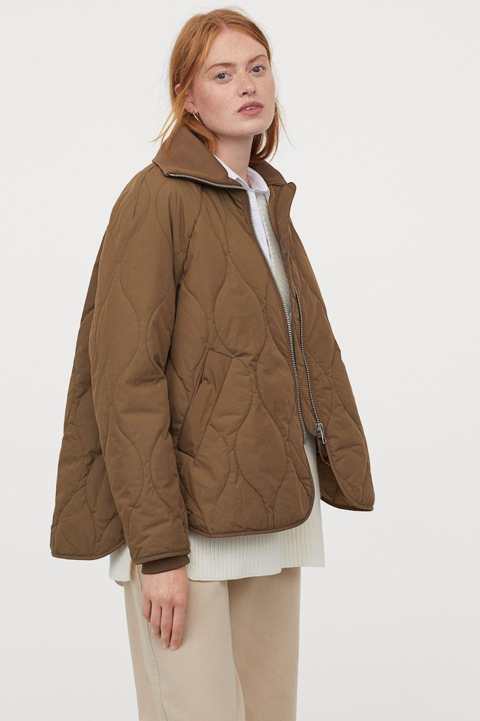"""<br><br><strong>H&M</strong> Quilted Jacket, $, available at <a href=""""https://www2.hm.com/en_gb/productpage.0914293004.html"""" rel=""""nofollow noopener"""" target=""""_blank"""" data-ylk=""""slk:H&M"""" class=""""link rapid-noclick-resp"""">H&M</a>"""
