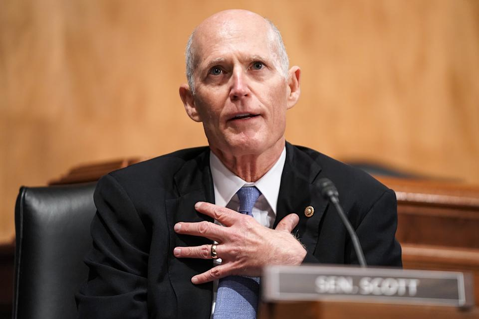 Senator Rick Scott, a Republican from Florida. Photographer: Greg Nash/The Hill/Bloomberg via Getty Images