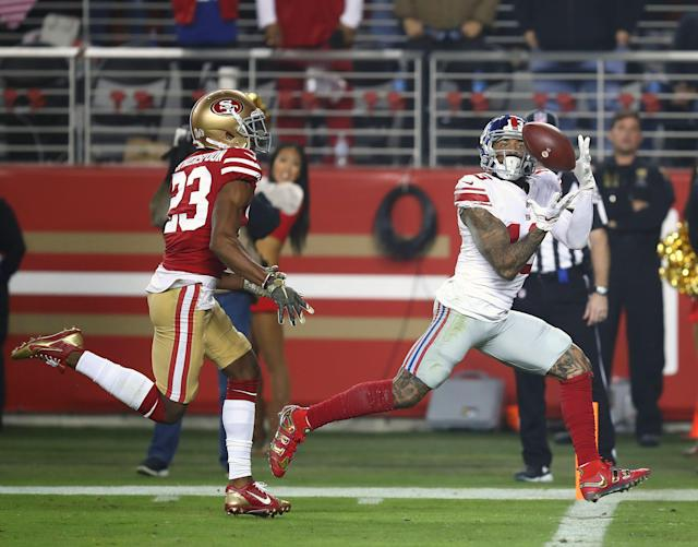 Former New York Giants wide receiver Odell Beckham almost joined the 49ers instead. (AP)