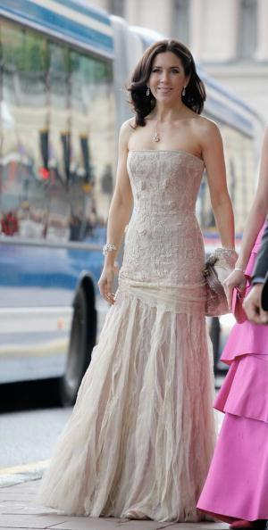 She wore this beautiful gown at royal wedding in 2010. Source: Getty Images