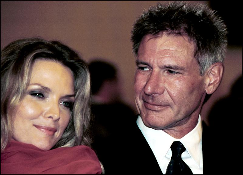ITALY - SEPTEMBER 02: Harrison Ford and Michelle Pfeiffer in Venice, Italy on September 2nd, 2010. (Photo by Eric VANDEVILLE/Gamma-Rapho via Getty Images)