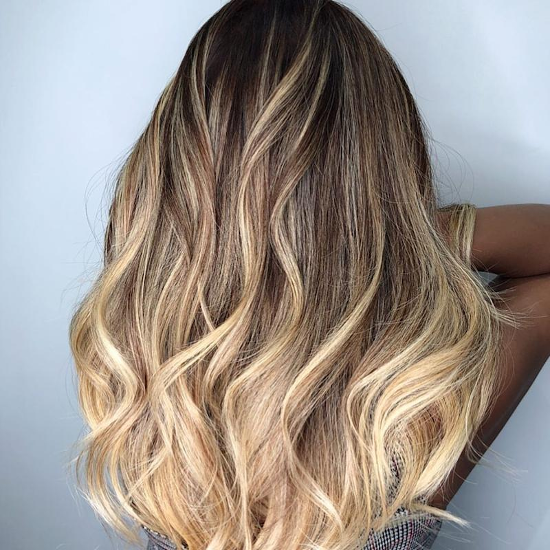 Golden Balayage Highlights by 99 Percent Hair Studio