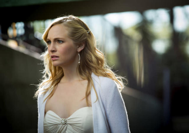 "Candice Accola as Caroline in ""O Come, All Ye Faithful,"" the ninth episode of ""The Vampire Diaries"" Season 4."