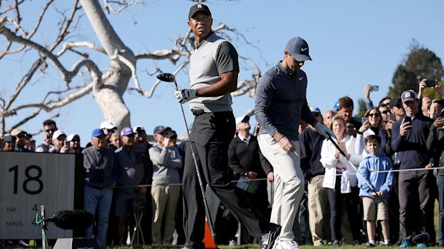 Tiger Woods got off to a great start in Round 1 of the Genesis Open. And then he didn't. Check out some of the highlights in his opening 18 at Riviera.