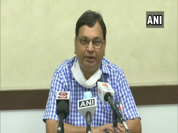 Uttar Pradesh Principal Health Secretary Amit Mohan Prasad speaking at a press conference in Lucknow on Saturday. Photo/ANI