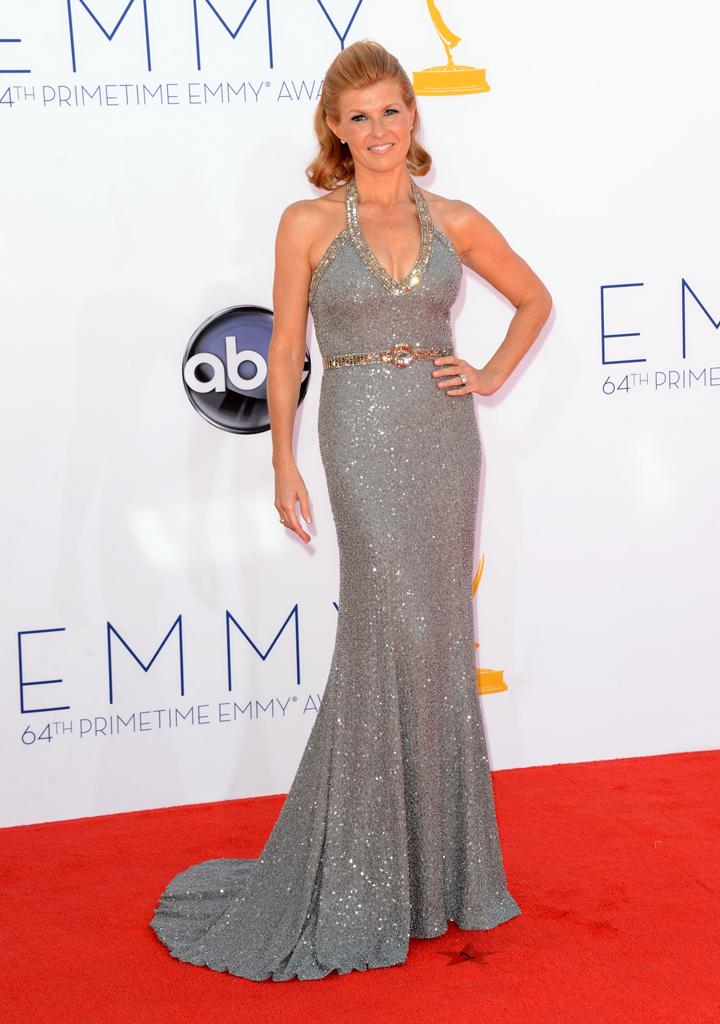 Actress Connie Britton arrives at the 64th Primetime Emmy Awards at the Nokia Theatre in Los Angeles on September 23, 2012. (Photo by Jason Merritt/WireImage)