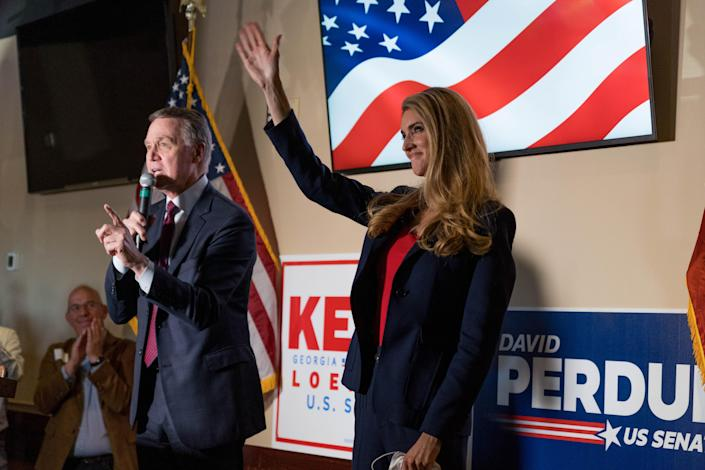 David Perdue and Kelly Loeffler