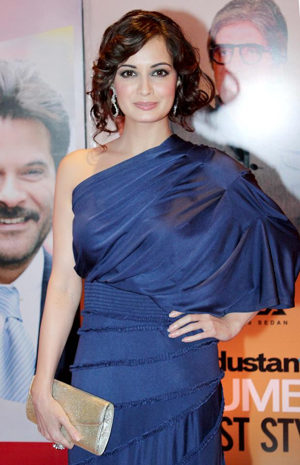 The gorgeous Diya Mirza looks like royalty in this beautiful blue dress.