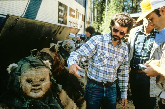 George Lucas on the set of <em>Return of the Jedi</em>. (Photo: Mary Evans/Ronald Grant/Everett Collection)
