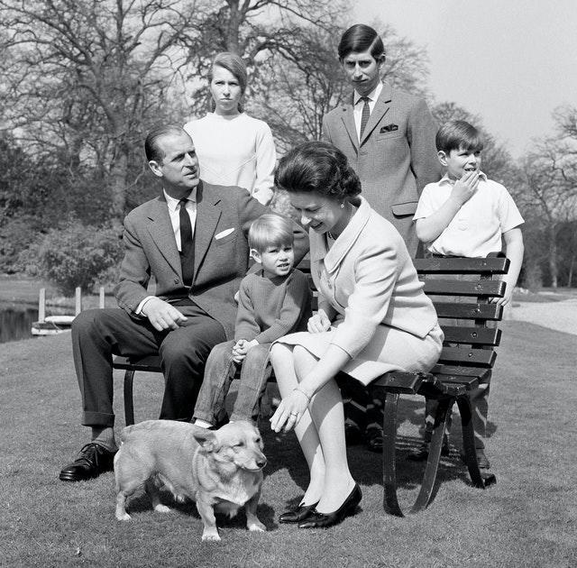 Philip and the Queen with their young family in 1968. PA Archive