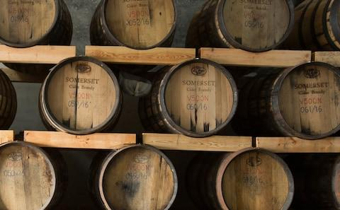 Aging gives the apple brandy it's oaky, mellow flavour - Credit: Somerset Cider Brandy Company