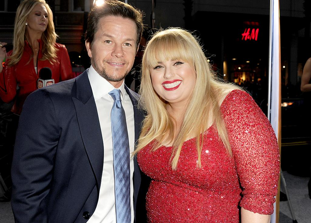 """Mark Wahlberg and Rebel Wilson arrive at the premiere of Paramount Pictures'""""Pain & Gain"""" at TCL Chinese Theatre on April 22, 2013 in Hollywood, California.  (Photo by Kevin Winter/Getty Images for Paramount Pictures)"""