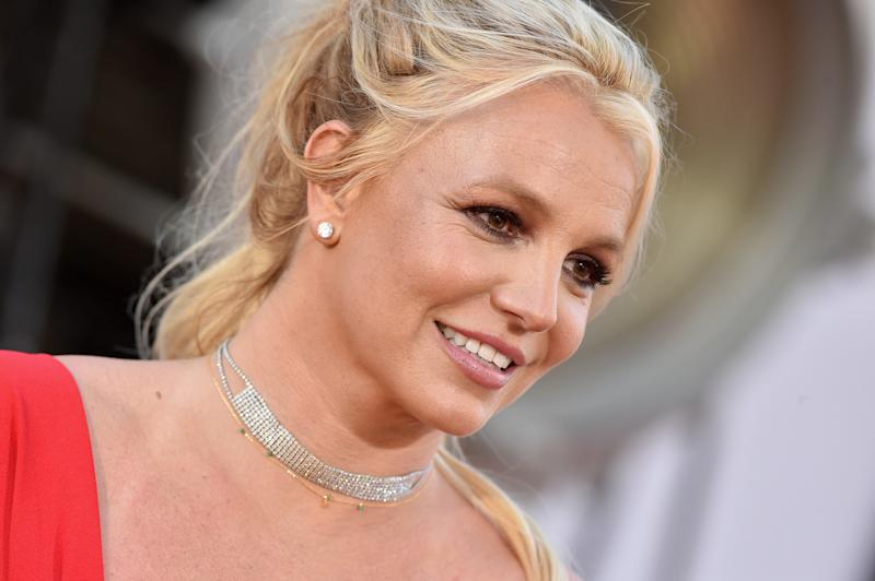 "HOLLYWOOD, CALIFORNIA - JULY 22: Britney Spears attends Sony Pictures' ""Once Upon a Time ... in Hollywood"" Los Angeles Premiere on July 22, 2019 in Hollywood, California. (Photo by Axelle/Bauer-Griffin/FilmMagic)"