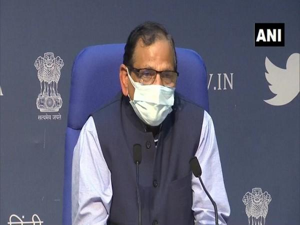 Dr VK Paul, Member (Health), NITI Aayog speaking at the press briefing on Tuesday.