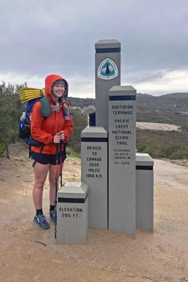 """Hiker Taylor Frint started the Pacific Crest Trail last week, then stopped when warnings were issued. <span class=""""copyright"""">(Taylor Frint)</span>"""