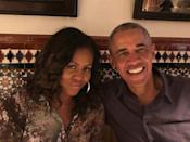 """<p>Michelle <a href=""""https://www.instagram.com/p/CF5OFHkA4zk/"""" rel=""""nofollow noopener"""" target=""""_blank"""" data-ylk=""""slk:said of her husband"""" class=""""link rapid-noclick-resp"""">said of her husband</a> on their 28th anniversary, """"I love @BarackObama for his smile, his character, and his compassion. So grateful to have him as a partner through everything life throws at us. </p>"""