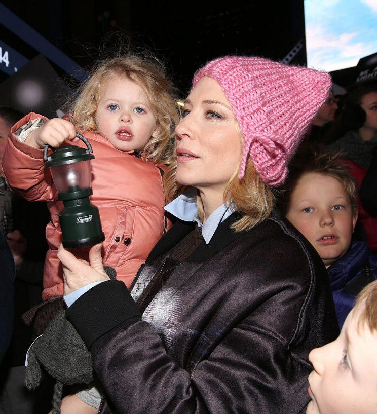 Cate Blanchett and daughter Edith at the Ghostlight Project