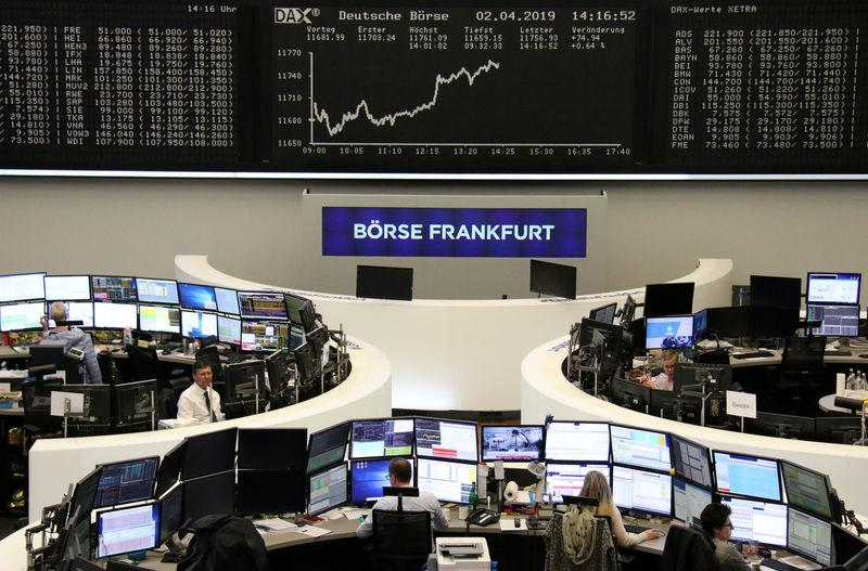 The German share price index DAX graph is pictured at the stock exchange in Frankfurt, Germany, April 2, 2019. REUTERS/Staff