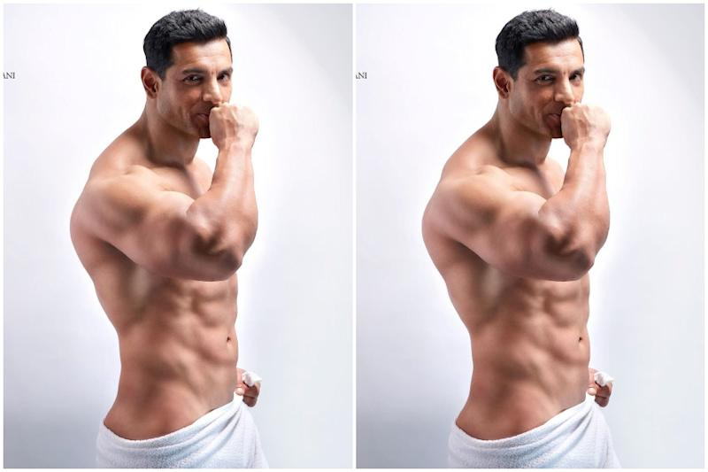 John Abraham Channels His Shirtless Pose From Dostana for Dabboo Ratnani's Calendar