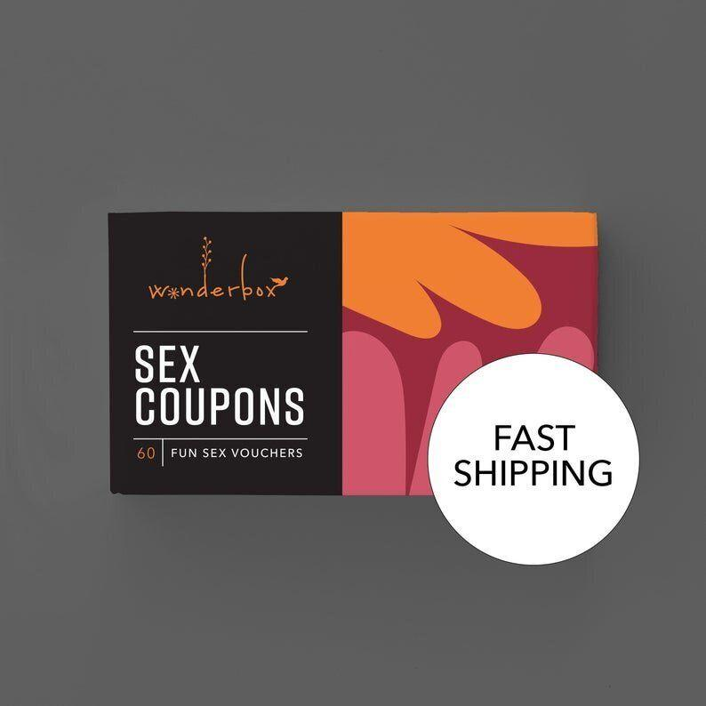 "With cards like ""Nooner"" and ""Naked Chef,"" <strong><a href=""https://fave.co/2LpFWWj"" target=""_blank"" rel=""noopener noreferrer"">these 24 sexy coupons</a></strong> will&nbsp;heat the holidays right up. <strong><a href=""https://fave.co/2LpFWWj"" target=""_blank"" rel=""noopener noreferrer"">Get it on Etsy</a></strong>."