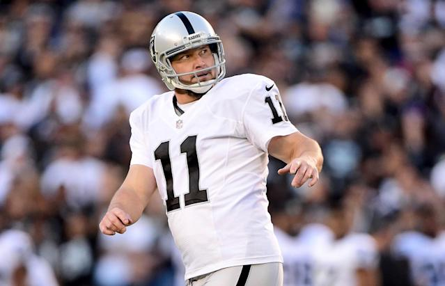 "<a class=""link rapid-noclick-resp"" href=""/nfl/players/5046/"" data-ylk=""slk:Sebastian Janikowski"">Sebastian Janikowski</a> is back in the NFL after the <a class=""link rapid-noclick-resp"" href=""/nfl/teams/sea"" data-ylk=""slk:Seattle Seahawks"">Seattle Seahawks</a> released kicker <a class=""link rapid-noclick-resp"" href=""/nfl/players/28378/"" data-ylk=""slk:Jason Myers"">Jason Myers</a>. (Getty)"