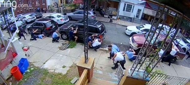 PHOTO: A scene of a shooting and standoff in Philadelphia on Aug. 14, 2019 (Courtesy Eric Garrity)