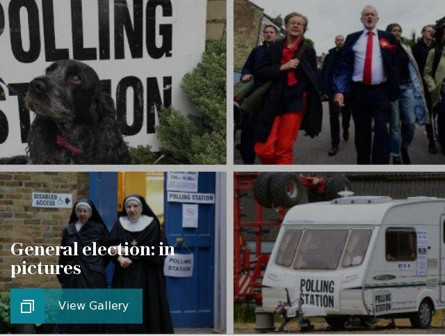 Brits (and their dogs) head out to vote: Quirkiest polling station pictures