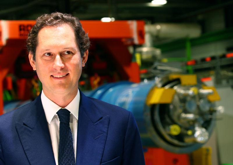 FILE PHOTO: Elkann Chairman of the Fiat attends the presentation of the Science Gateway by architet Piano at the CERN in Meyrin