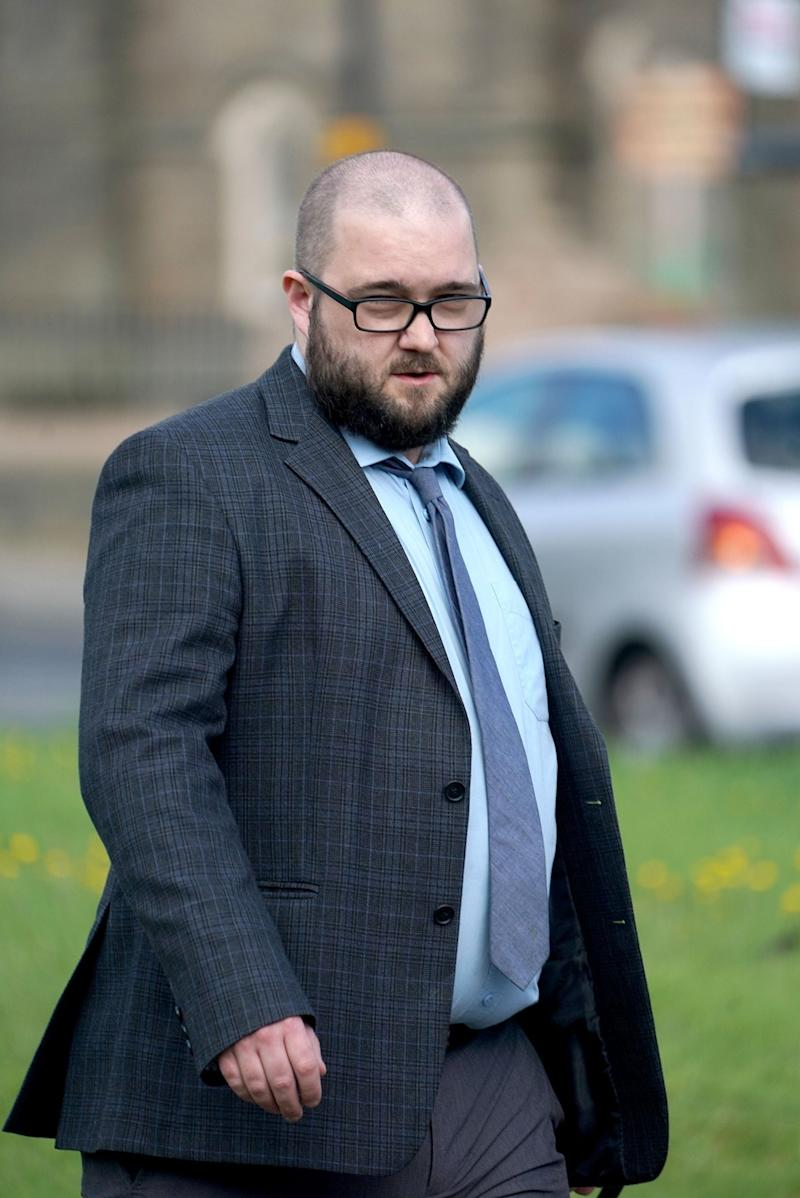 Paul Crowther outside court on Tuesday (PA)