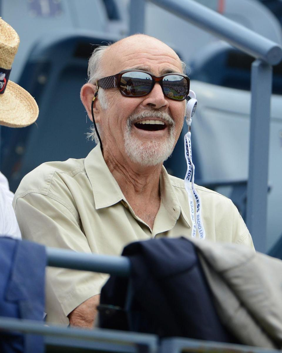 <p>Connery attends the 2012 U.S. Open. </p>