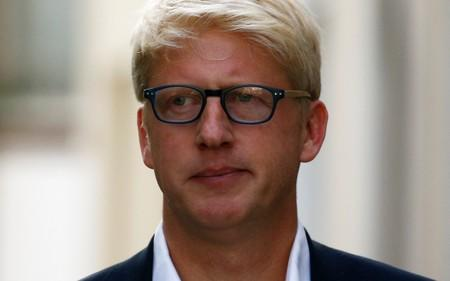 Britain's former Minister of State for Business, Energy and Industrial Strategy Department and Education Department Jo Johnson leaves his home in London