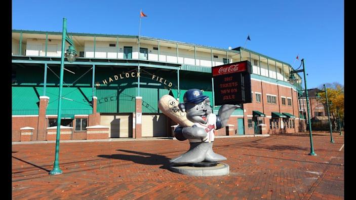 Hadlock Field in Portland, Maine, is home to the Sea Dogs minor league baseball team.