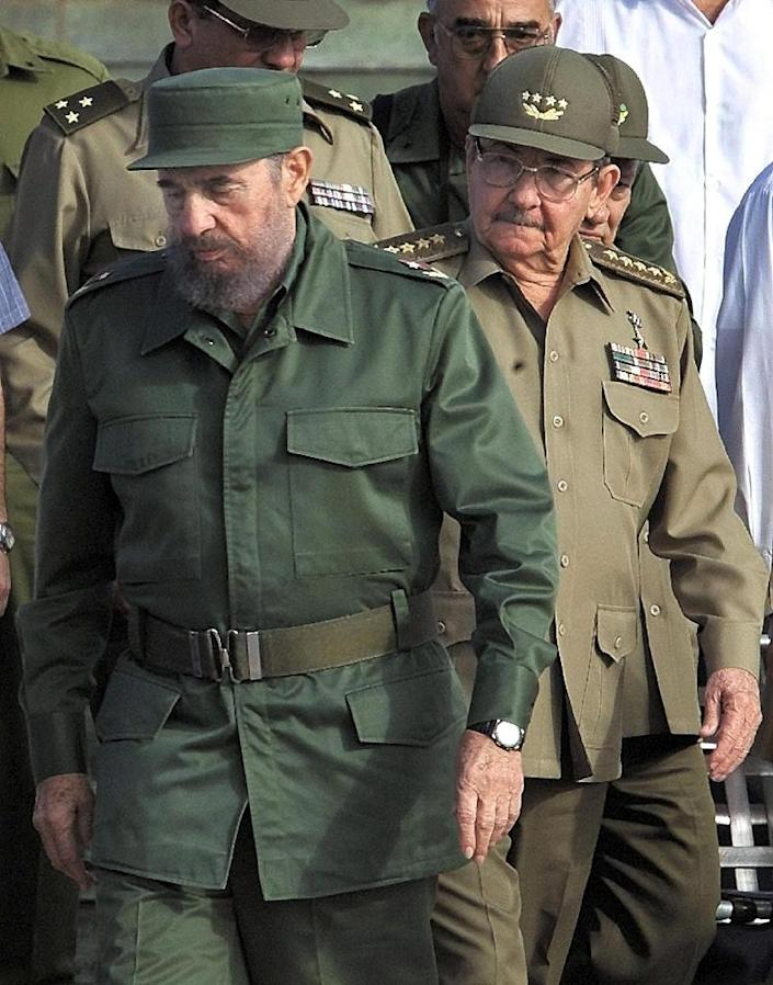 Former Cuban leader Fidel Castro (left) was in power from 1961-2008 before handing over the presidency to his brother Raul (AFP Photo/Adalberto Roque)