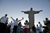 Brazil's most famous landmark is another vaccination site