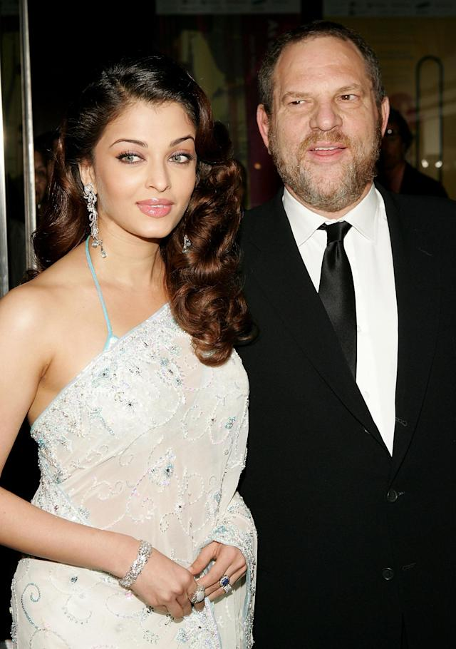 Actress Aishwarya Rai was protected from Harvey Weinstein, according to her former talent manager, Simone Sheffield. Photo ops at events — like this one at <em>Time</em> magazine's 2005 Time 100 celebration in NYC — were OK, but one-on-one meetings were not. (Photo: Paul Hawthorne/Getty Images)
