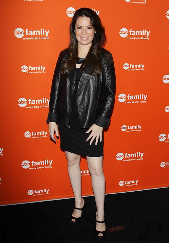 "Holly Marie Combs (""Pretty Little Liars"") arrives at ABC Family's West Coast Upfronts at The Sayers Club on May 1, 2012 in Hollywood, California."
