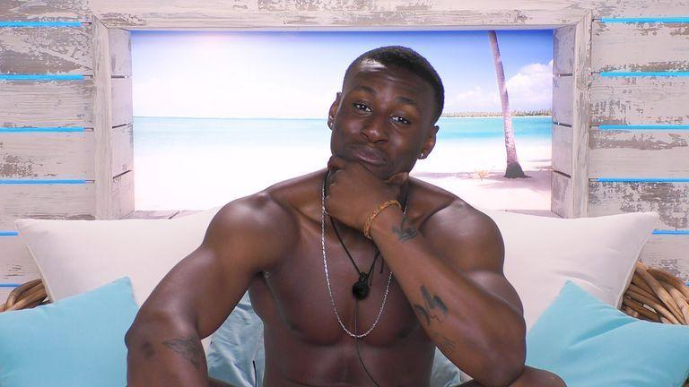 """<p>Sherif joined season five as an original Islander and coupled up with <a href=""""https://www.cosmopolitan.com/uk/entertainment/a29503905/love-island-anna-vakili-how-much-money-made/"""" rel=""""nofollow noopener"""" target=""""_blank"""" data-ylk=""""slk:Anna Vakili"""" class=""""link rapid-noclick-resp"""">Anna Vakili</a>. But the whole villa and viewers alike were shocked when he was removed from the show after an <a href=""""https://www.cosmopolitan.com/uk/entertainment/a28052804/sherif-lanre-reveals-why-kicked-out-of-love-island/"""" rel=""""nofollow noopener"""" target=""""_blank"""" data-ylk=""""slk:off-camera altercation with Molly-Mae Hague"""" class=""""link rapid-noclick-resp"""">off-camera altercation with Molly-Mae Hague</a>. </p><p>After his departure, Sherif told <a href=""""https://www.thesun.co.uk/tvandshowbiz/love-island-2020/9302539/love-island-sherif-kicked-out-joke-molly/"""" rel=""""nofollow noopener"""" target=""""_blank"""" data-ylk=""""slk:The Sun"""" class=""""link rapid-noclick-resp"""">The Sun</a>: """"I did kick Molly-Mae in the groin area, but it was an accident and she 100 per cent was not injured afterwards."""" </p><p>""""I turned to Tommy and said, 'That was a c*** punt.' I realise now that was wrong and I would like to apologise,"""" he added. Producers said the incident had broken villa rules.</p>"""